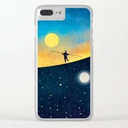 The Tightrope Walker Clear iPhone Case