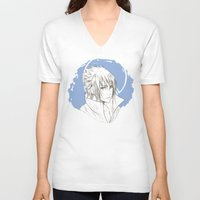 sasuke V-neck T-shirts featuring Sasuke by ilaBarattolo