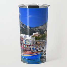 The Beach in Capri, Italy Travel Mug