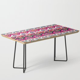 N59 - Anthropologie Oriental Traditional Pink Moroccan Style Artwork. Coffee Table