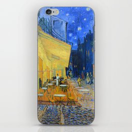 Vincent Van Gogh - Cafe Terrace at Night iPhone Skin