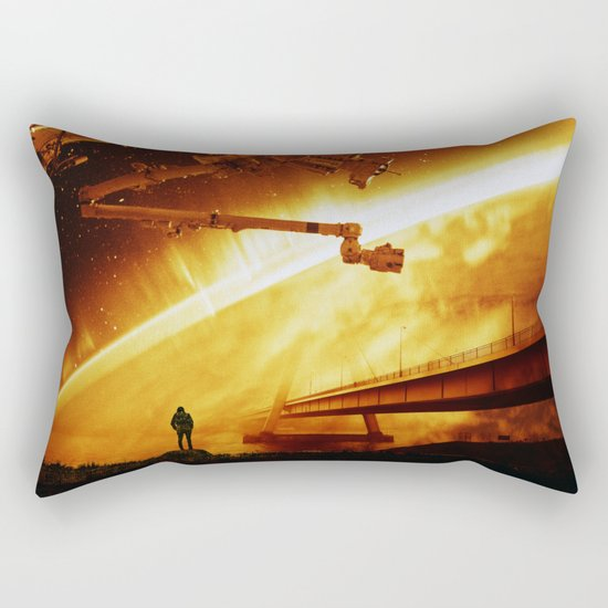 Red Sun Chronicle Rectangular Pillow