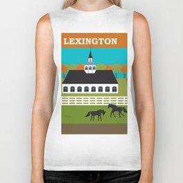 Lexington, Kentucky - Skyline Illustration by Loose Petals Biker Tank