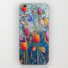Flowers flow iPhone Skin