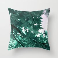 turquoise Throw Pillows featuring turquoise by Françoise Reina