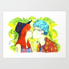 The First Kiss Art Print