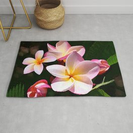 Love's First Blush Hawaiian Plumeria Rug