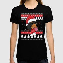 Dachshund Ugly Christmas T-shirt