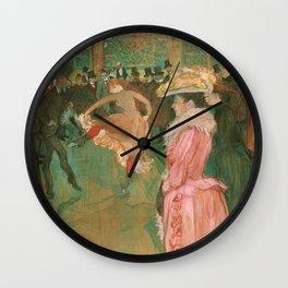 The Dance - Henri de Toulouse-Lautrec (1890) Wall Clock