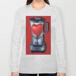 Heart Series Love Blenders Love Valentine Anniversary Birthday Romance Sexy Red Hearts Long Sleeve T-shirt