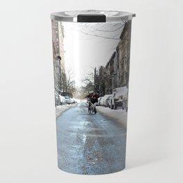 Upper West Side after the Snow Travel Mug