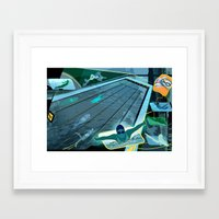 swimming Framed Art Prints featuring Swimming by Robin Curtiss