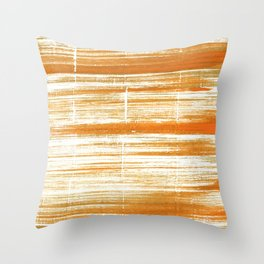 Tigers eye abstract Throw Pillow