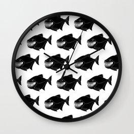 sweet piranhas Wall Clock