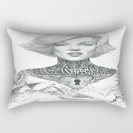 Marilyn Tattooed Rectangular Pillow