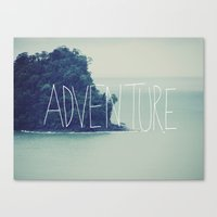 adventure Canvas Prints featuring Adventure Island by Leah Flores