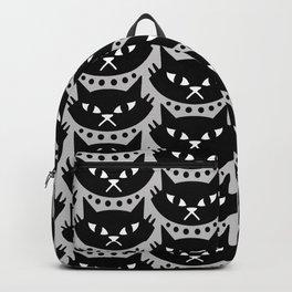Mid Century Modern Cat Black & Grey Backpack