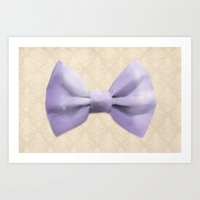 bow Art Prints featuring Bow by Naomi Shingler