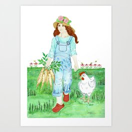 Luci and Susie - Gifts from the Garden Art Print