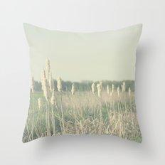 Cattail Throw Pillow
