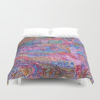 community Duvet Covers featuring A Close Knit Community by Dana L Duncan