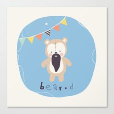 Barry Bear Canvas Print