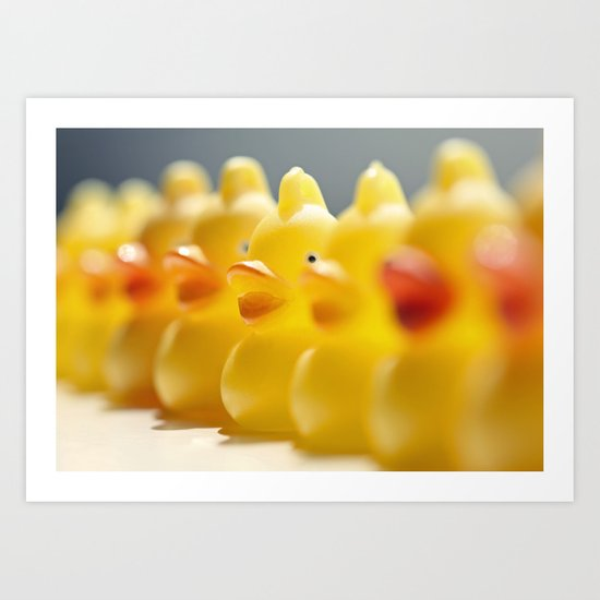 all your ducks in a row Art Print