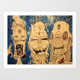 Alien punx from space Art Print