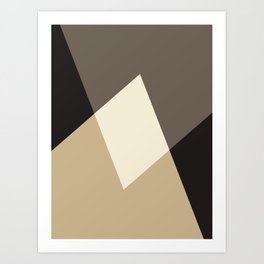Mocha Shapes Art Print