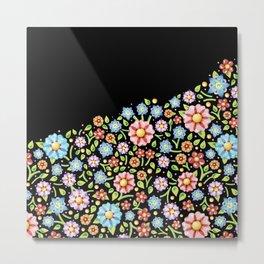 Millefiori Floral Horizon Metal Print