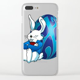 Sleeping Easter Bunny. Clear iPhone Case