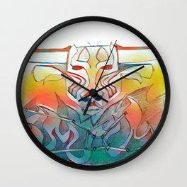 Burning Taurus Wall Clock