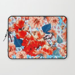 Geometric Flowers and Bees Laptop Sleeve