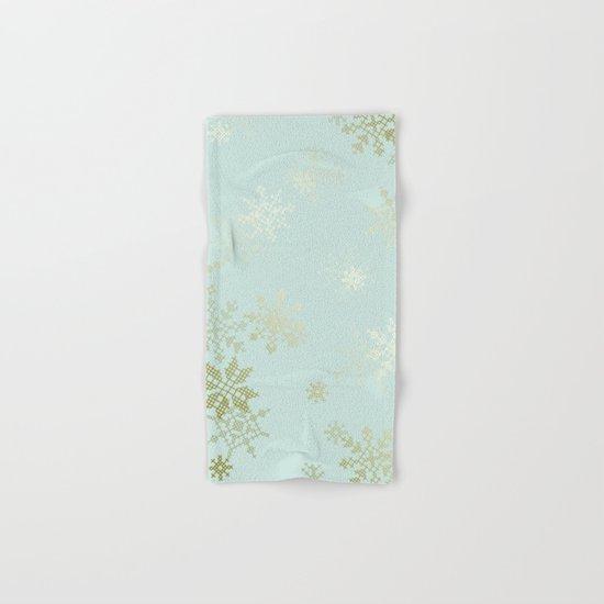 Gold Snowflakes Hand & Bath Towel