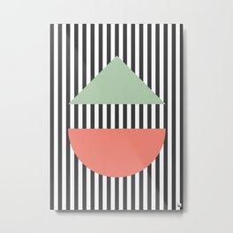 Stripes Geometric Metal Print