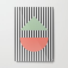 Stripes Geometric Metal Print