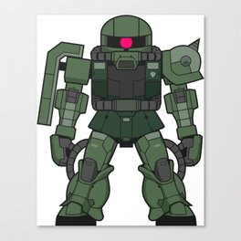 Mini Zaku II Canvas Print