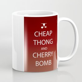 Cheap Thong and Cherry Bomb Coffee Mug