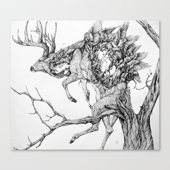 Peryton Canvas Print