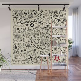 Merry Christmas Multiple languages Wall Mural