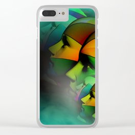 what do you see -2- Clear iPhone Case