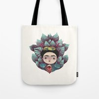frida Tote Bags featuring frida by yohan sacre