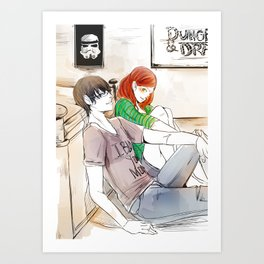Simon and Clary Art Print