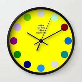 Robert Hirst Spot Clock Yellow Wall Clock
