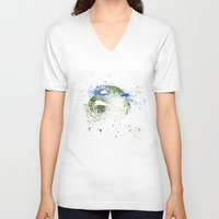 leo V-neck T-shirts featuring Leo by Arian Noveir