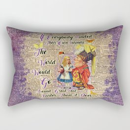 Alice with The Duchess Vintage Dictionary Art Rectangular Pillow