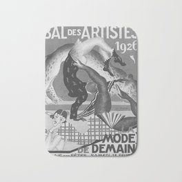 retro vintage Bal des Artistes 1926 poster Bath Mat