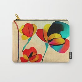 Exotic Watercolor Flower Carry-All Pouch