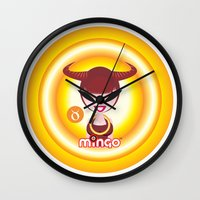 taurus Wall Clocks featuring Taurus by HanYong
