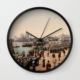 1890s Riva degli Schiavoni, Venice, Italy photo Wall Clock